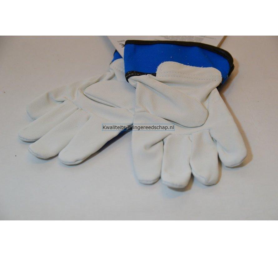 Kinderhandschoen OX-ON leer 4 tot 6 jaar  blauw