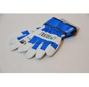 Kwaliteits-tuingereedschap Kinderhandschoen OX-ON leer 4 tot 6 jaar blauw