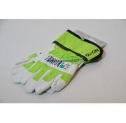 Kwaliteits-tuingereedschap Kinderhandschoen OX-ON leer 6 tot 8 jaar groen