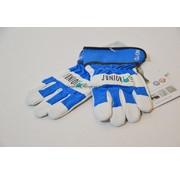 Kwaliteits-tuingereedschap Kinderhandschoen OX-ON leer 6 tot 8 jaar blauw