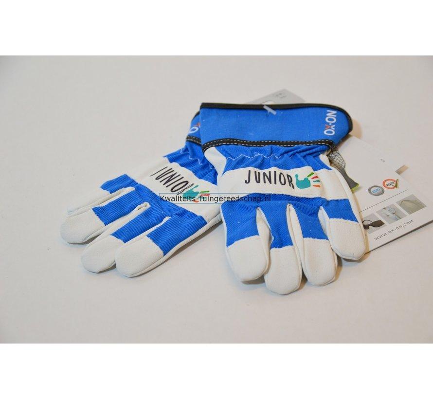 Kinderhandschoen OX-ON leer 6 tot 8 jaar blauw