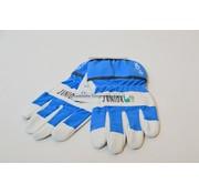 Kwaliteits-tuingereedschap Kinderhandschoen OX-ON leer 8 tot10 jaar blauw