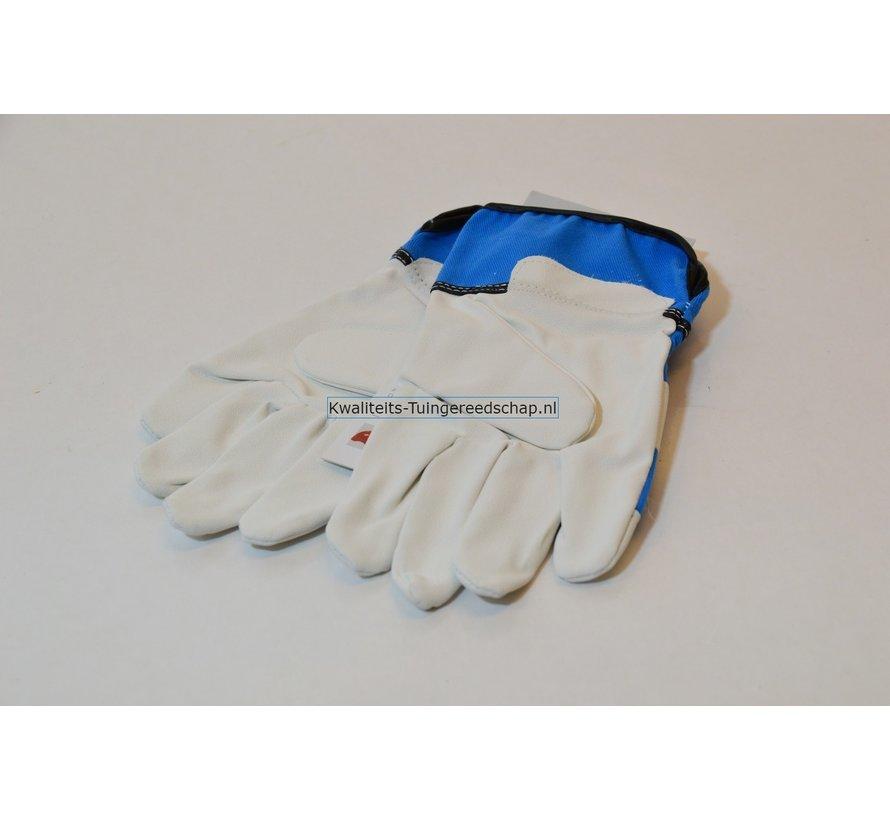 Kinderhandschoen OX-ON leer 8 tot10 jaar blauw