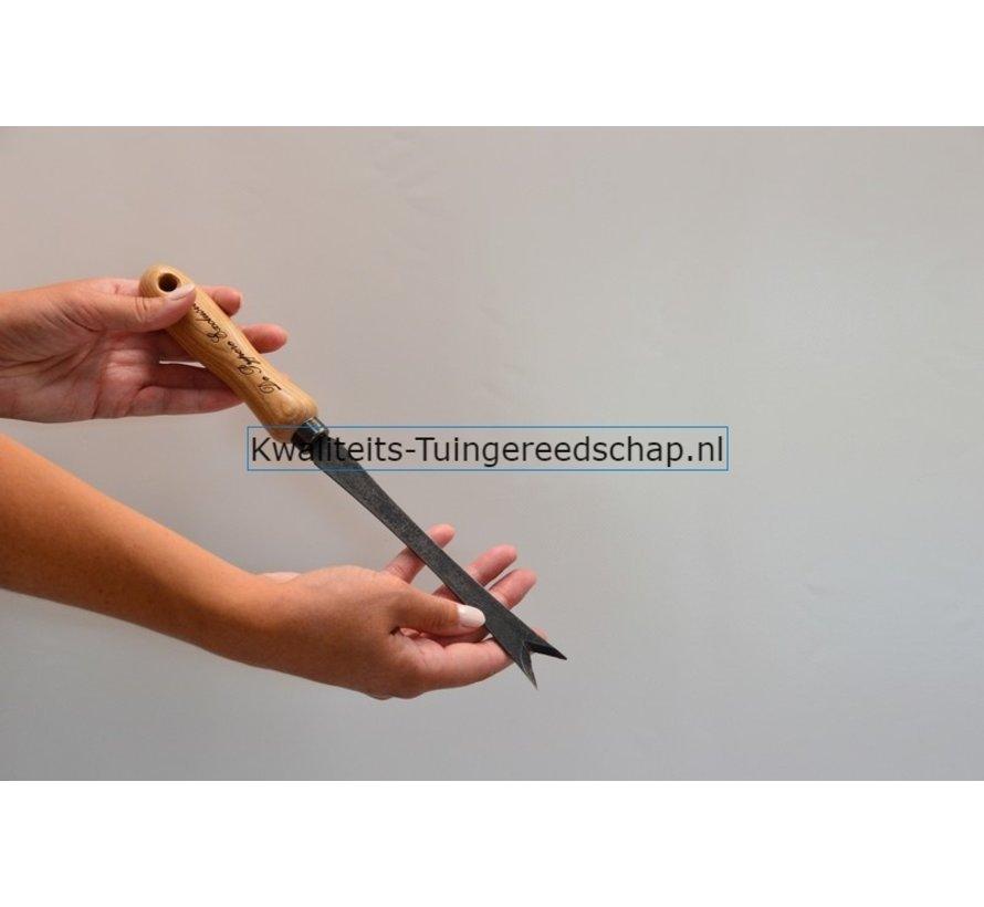Paardenbloemsteker Handgesmeed essen handvat 140 mm