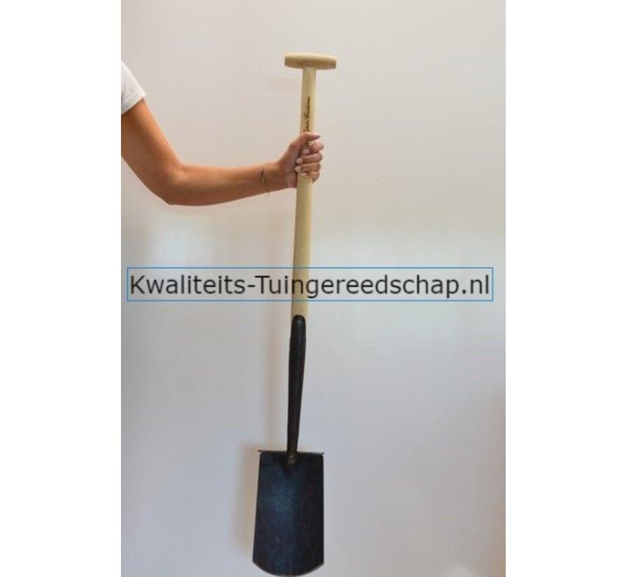 Handgesmede  Spade Zwanenhals met Steps T-Steel 75 cm