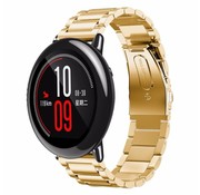 REBL Metalen watchband met vlindersluiting voor de Xiaomi Huami Amazfit Pace - Goudkleurig