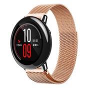 REBL Milanese watchband met magnetische sluiting voor de Xiaomi Huami Amazfit Pace - Rose Goudkleuring