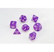 7-delige Polydice / dobbelstenen Set voor dungeons & dragons | Paars | REBL