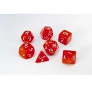 7-delige Polydice / dobbelstenen Set voor dungeons & dragons | Rood | REBL