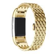 REBL Metalen Dragon Style armband voor Fitbit Charge 2 - Goud