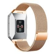 REBL Milanese polsbandje voor de Fitbit Ionic met magneetsluiting - Rose Goud