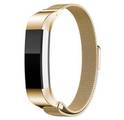 REBL Milanese polsbandje met magnetische sluiting voor Fitbit Alta / Alta HR- Goud