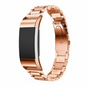 REBL Metalen armband / polsbandje voor Fitbit Charge 2 - Rose Goud