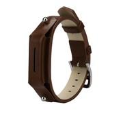 REBL Lederen armbandje voor de Fitbit Flex 2 met gespsluiting  - Bruin