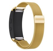 REBL Milanese horloge bandje met magneetsluiting voor Samsung Gear Fit 2 - Goud