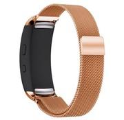 REBL Milanese horloge bandje met magneetsluiting voor Samsung Gear Fit 2 - Rose Goud