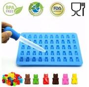 REBL Siliconen gummy beer vorm - Maak zelf je eigen gummy beertjes - Inclusief pipet
