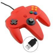 REBL N64 | Nintendo 64 controller met USB aansluiting voor o.a. je Raspberry Pi| 1 stuk | Rood