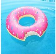 REBL Grote opblaasbare roze donut zwemband - 100 CM