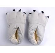 REBL Grijze poot pantoffels - Leuke Grijze sloffen passen perfect bij de jouw Onesie - One sieze fits most