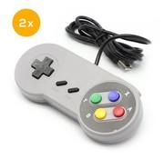 SNES | Super Nintendo controller met USB aansluiting | 2 stuks