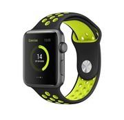 REBL Siliconen Sport + bandje voor de Apple Watch - Zwart / Geel