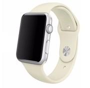 REBL Siliconen sport polsbandje voor de Apple Watch - Crème Wit