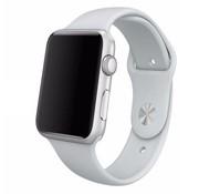 REBL Siliconen sport polsbandje voor de Apple Watch 4 - Mist grijs