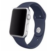 REBL Siliconen sport polsbandje voor de Apple Watch - Midnight Blauw