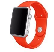 REBL Siliconen sport polsbandje voor de Apple Watch - Oranje