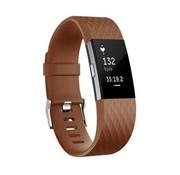 REBL Siliconen polsbandje voor de Fitbit Charge 2 - Bruin / Koffie