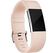 REBL Siliconen polsbandje voor de Fitbit Charge 2 - Zalmroze