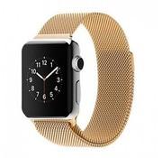 REBL Milanese horloge bandje met magneetsluiting voor de Apple Watch - Goud