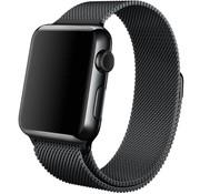 REBL Milanese horloge bandje met magneetsluiting voor de Apple Watch - Zwart
