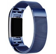 REBL Fitbit Charge 2 Milanese Horloge Bandje met magneetsluiting - Maat M - Blauw