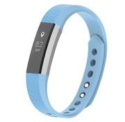 REBL Siliconen polsbandje voor de Fitbit Alta / Alta HR - Baby Blauw
