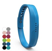 REBL Siliconen sportbandjes voor de Fitbit Flex 2 met druksluiting - Blauw