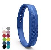 REBL Siliconen sportbandjes voor de Fitbit Flex 2 met druksluiting - Donker Blauw