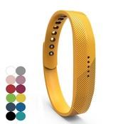 REBL Siliconen sportbandjes voor de Fitbit Flex 2 met druksluiting - Geel