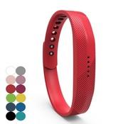 REBL Siliconen sportbandjes voor de Fitbit Flex 2 met druksluiting - Rood