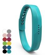 REBL Siliconen sportbandjes voor de Fitbit Flex 2 met druksluiting - Turquoise