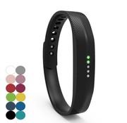 REBL Siliconen sportbandjes voor de Fitbit Flex 2 met druksluiting - Zwart