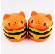REBL Hamburger Kat Squishy - Slow Rising - Copy