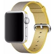 REBL Geweven nylon bandje voor de Apple Watch  - Grijs / Geel