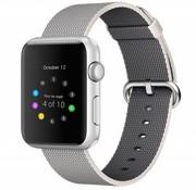 REBL Geweven nylon bandje voor de Apple Watch  - Space Grijs