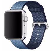 REBL Geweven nylon bandje voor de Apple Watch  - Navy / Blauw