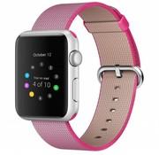 REBL Geweven nylon bandje voor de Apple Watch  - Roze / Roze