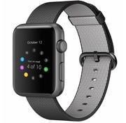 REBL Geweven nylon bandje voor de Apple Watch  - Zwart