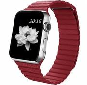 REBL PU Lederen bandje met magnetische sluiting voor Apple Watch  - Rood