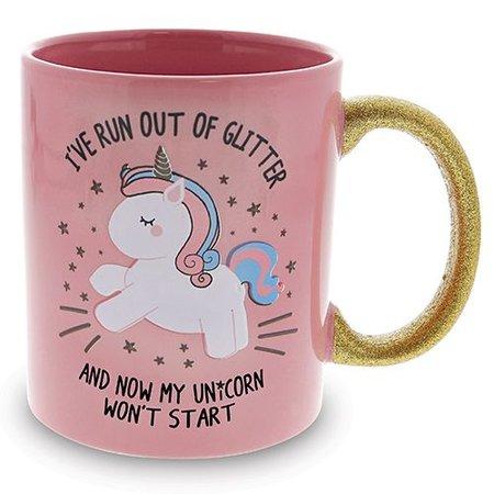Fizz Creations Mok - I've run out of glitter - Unicorn